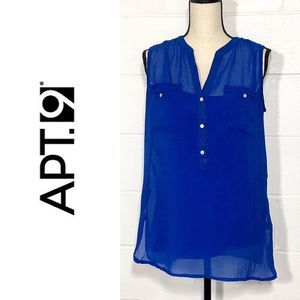Sleeveless Sheer Blue Top with Camisole by Apt 9